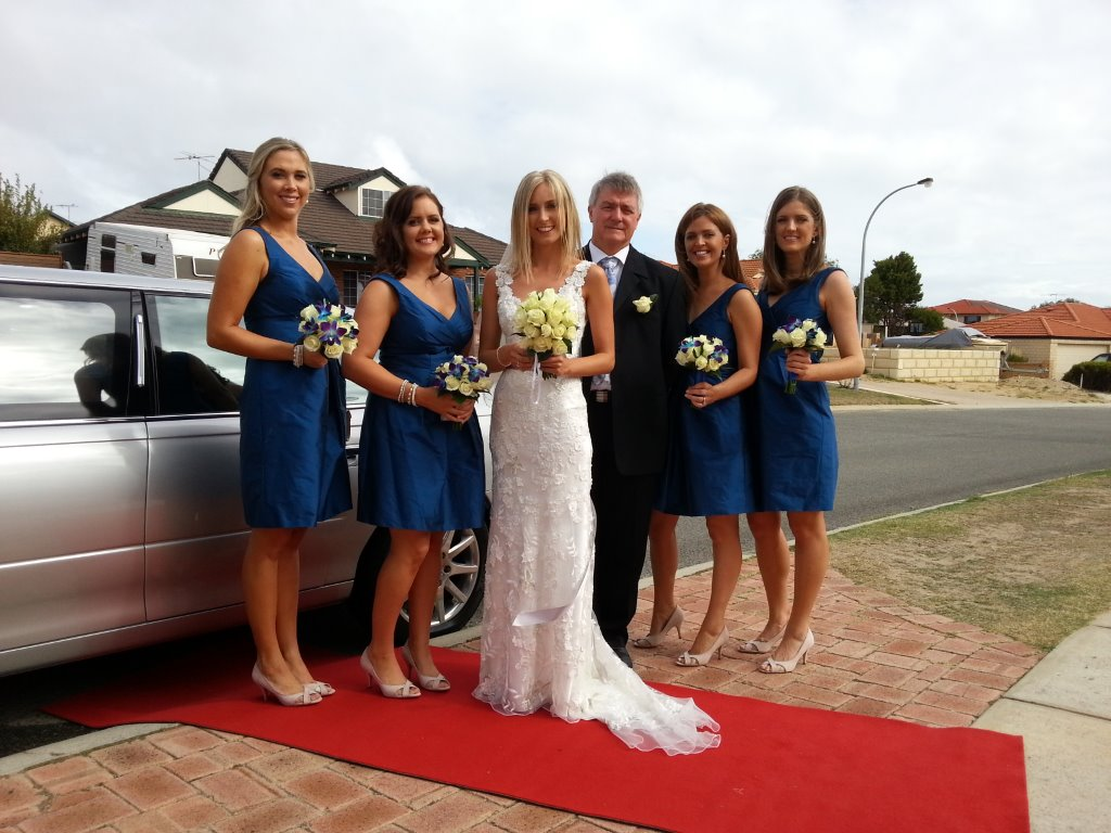 wedding Limo Perth helping out on a very special day for this very special lady