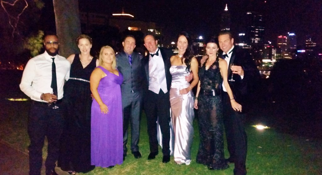 Perth Limo Hire at Kings Park with this HOT group off to the Firemans Ball