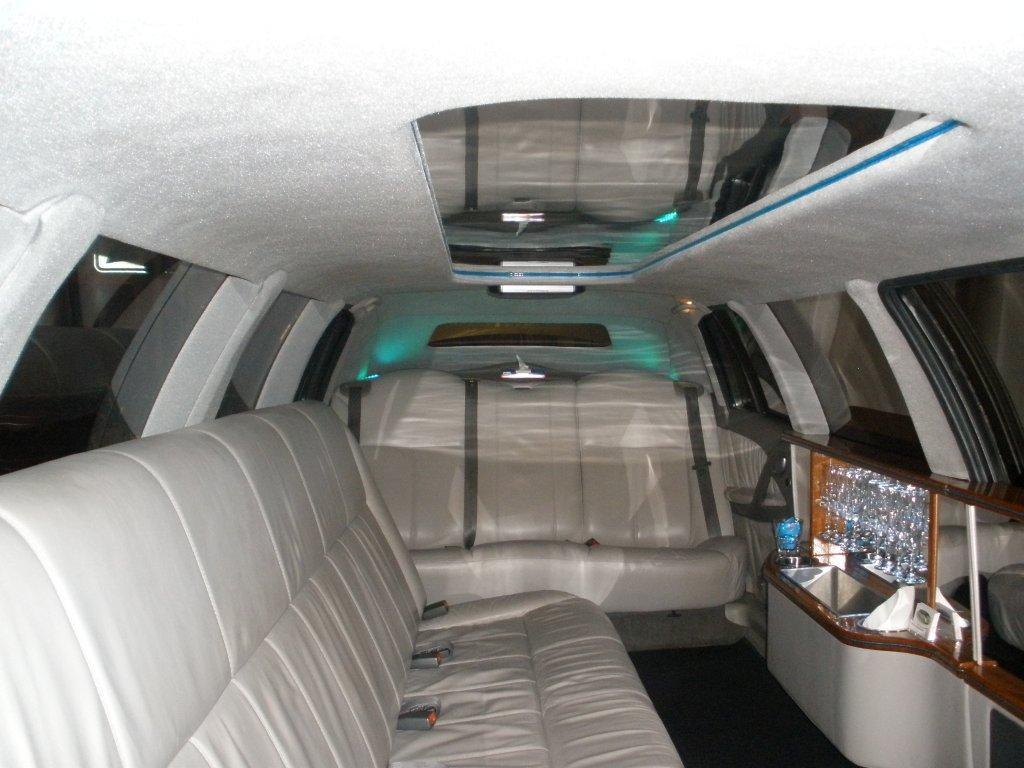 Interior of statesman limousine