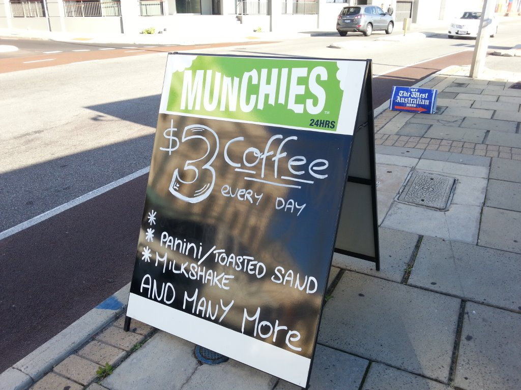 Perth limo hire drivers love a well priced and good coffee between limousine hire in Perth