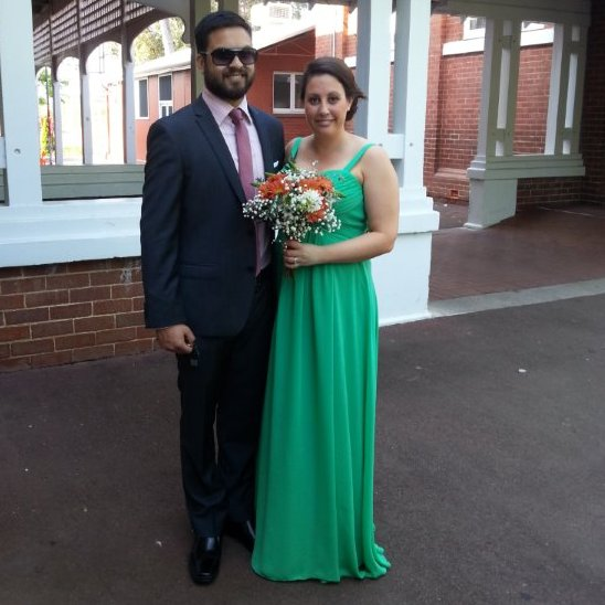 Limousines Unlimited found this lovely couple at a wedding limo occasion recently