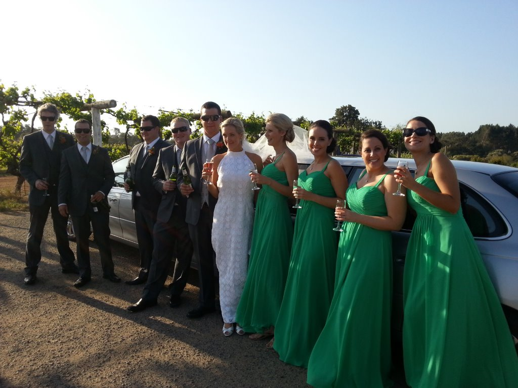 Limo hire Perth assisting with another wedding limo hire Perth. great day with great group.