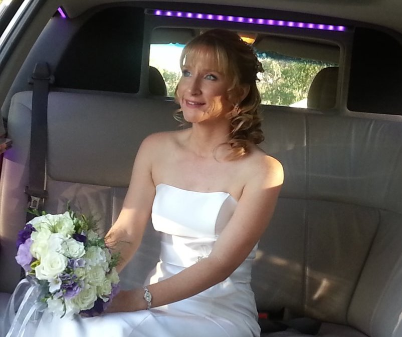 Limo Hire Perth with another beautiful bride ready to embrace the day