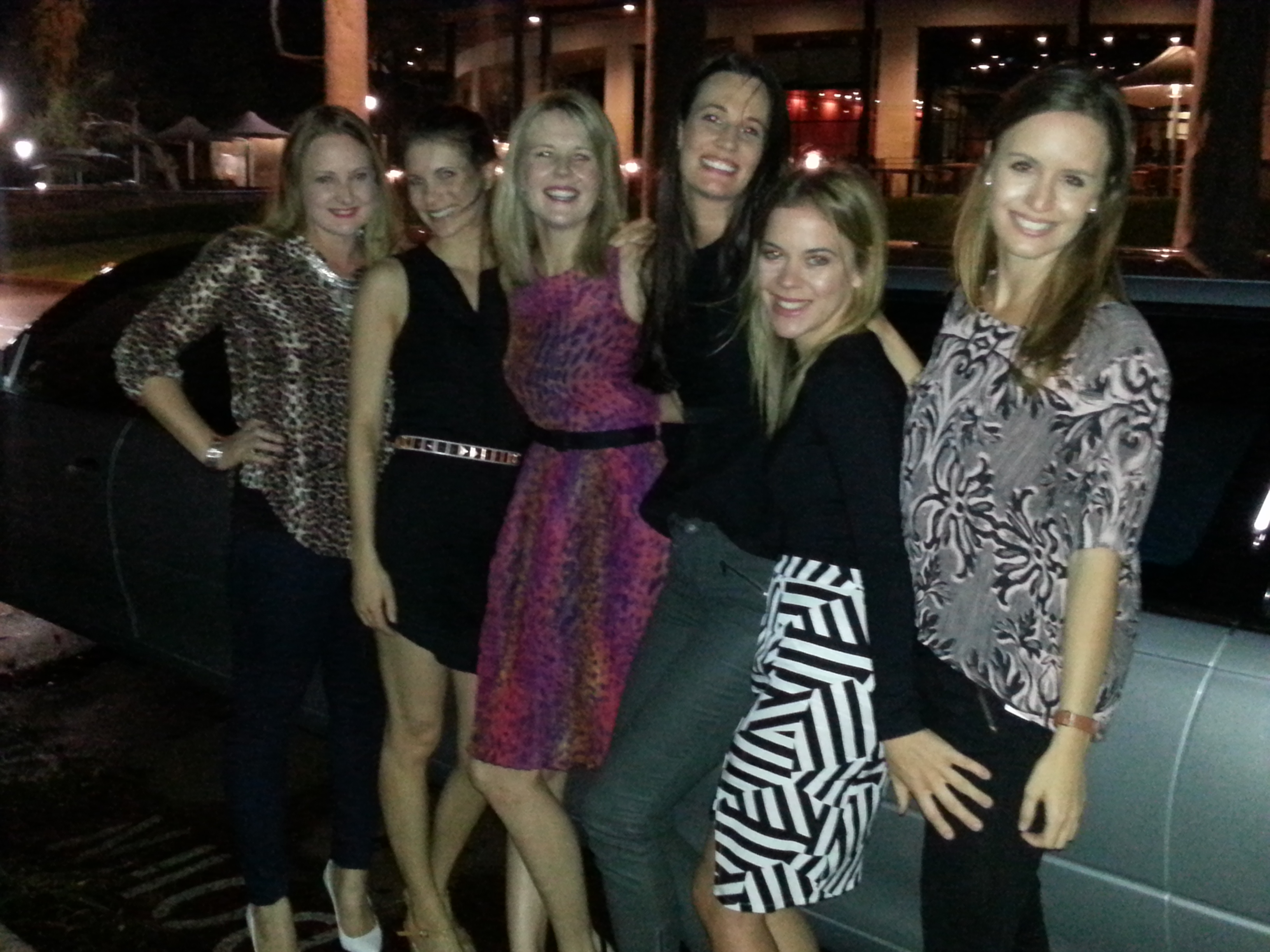 Wedding Limousine Hire with lovely ladies enjoying a great night out