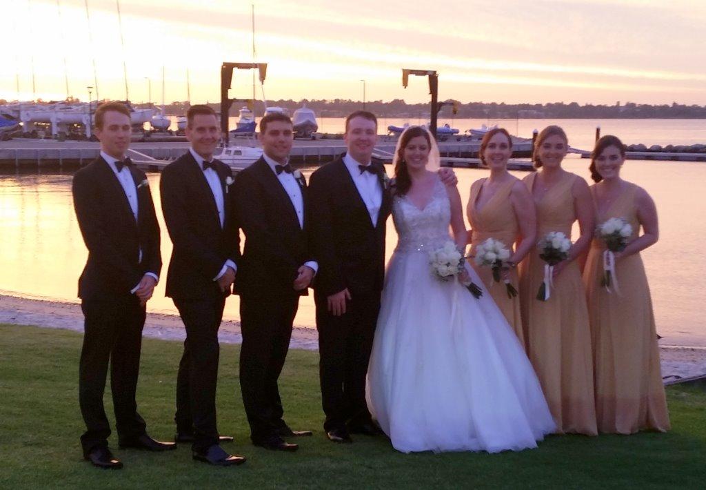 Statesman limo hire Perth assisting wedding celebration