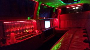 Interior of limousine